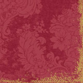Duni DUNILIN Motiv Servietten 40x40cm Royal bordeaux 12x50 Stck