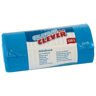 CLEAN and CLEVER Abfallsack ECO182 LDPE blau 120 L 10x25 Stck